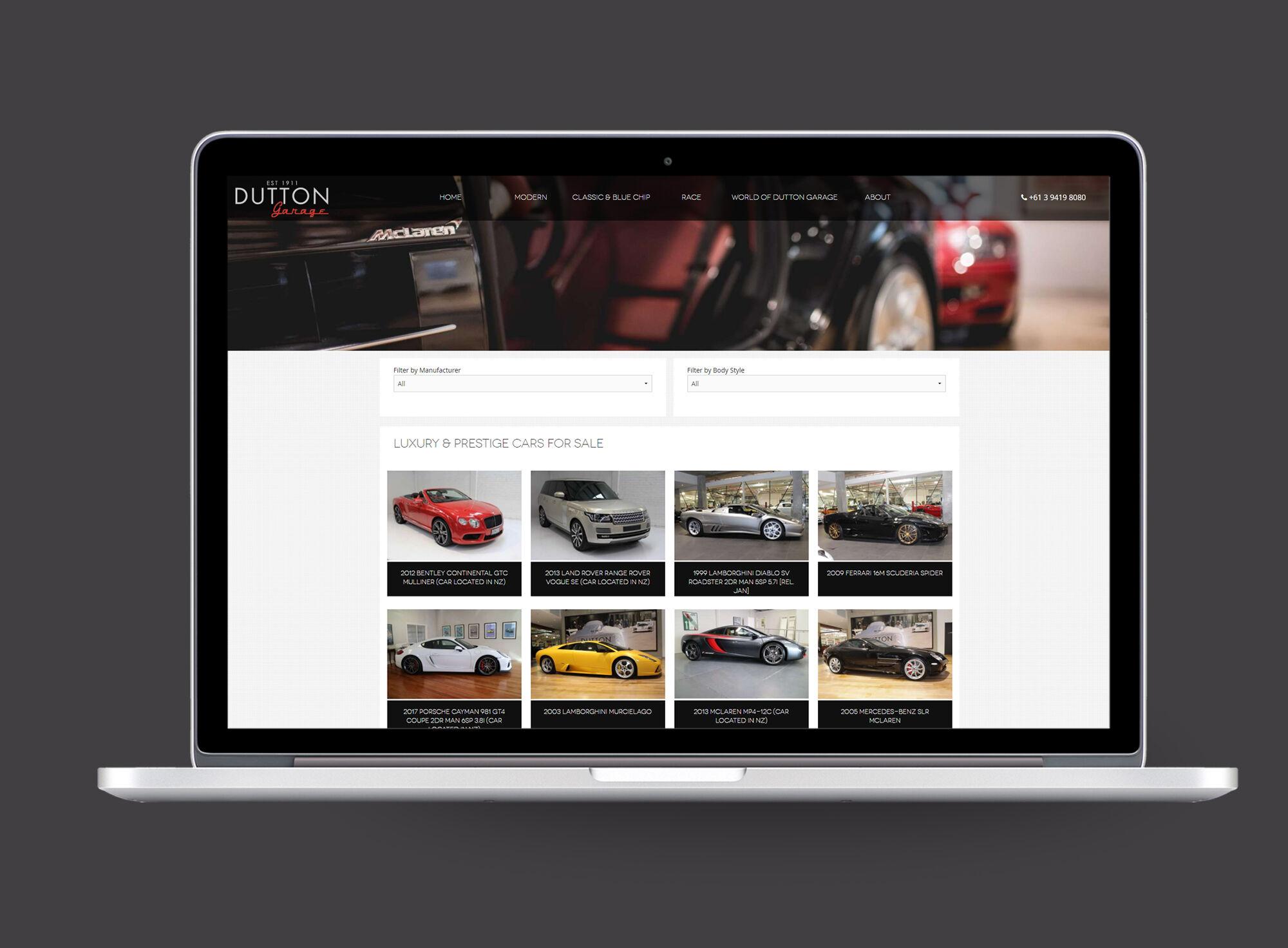 Dutton Garage laptop