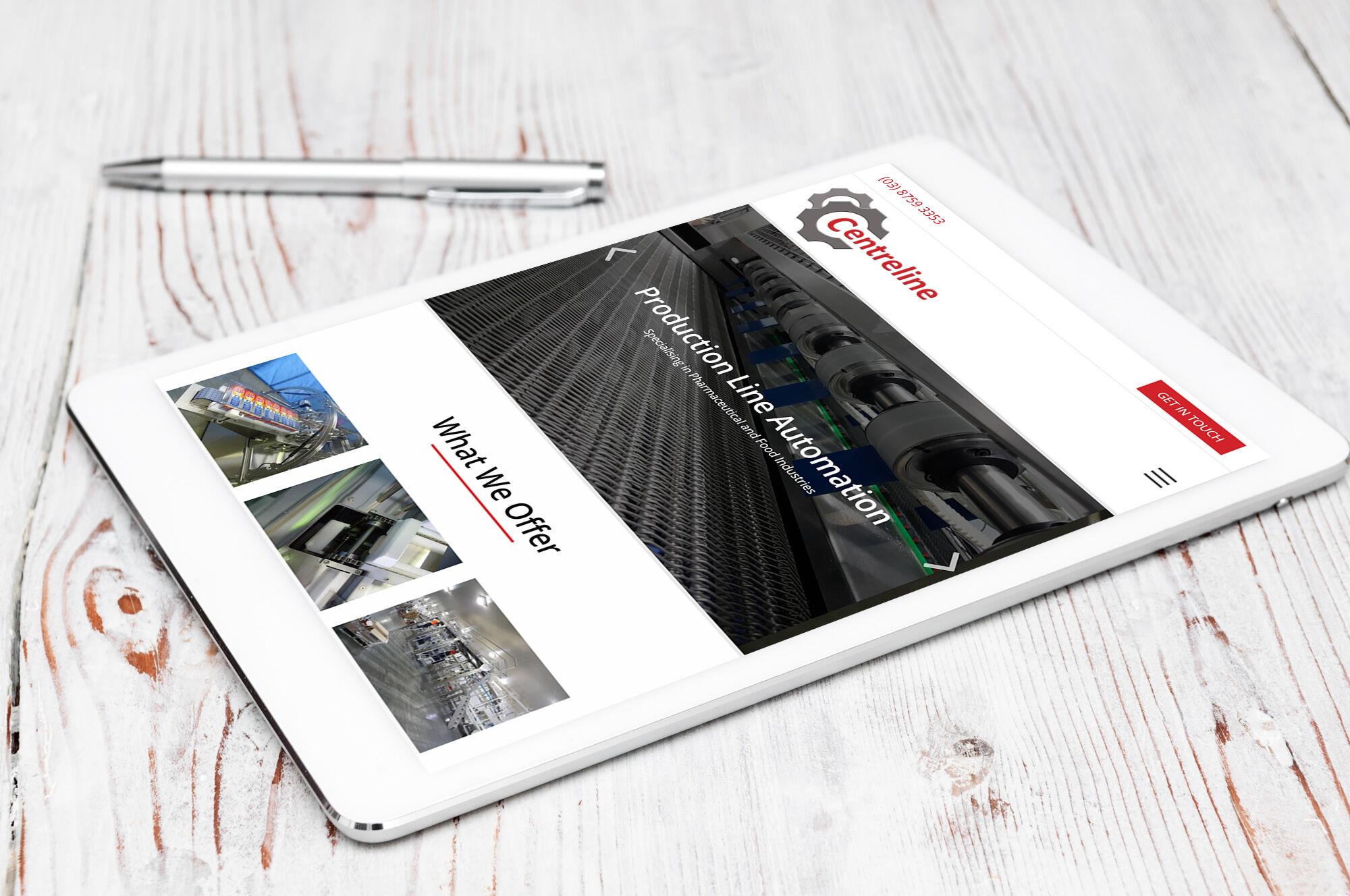 Centreline Engineering iPad view