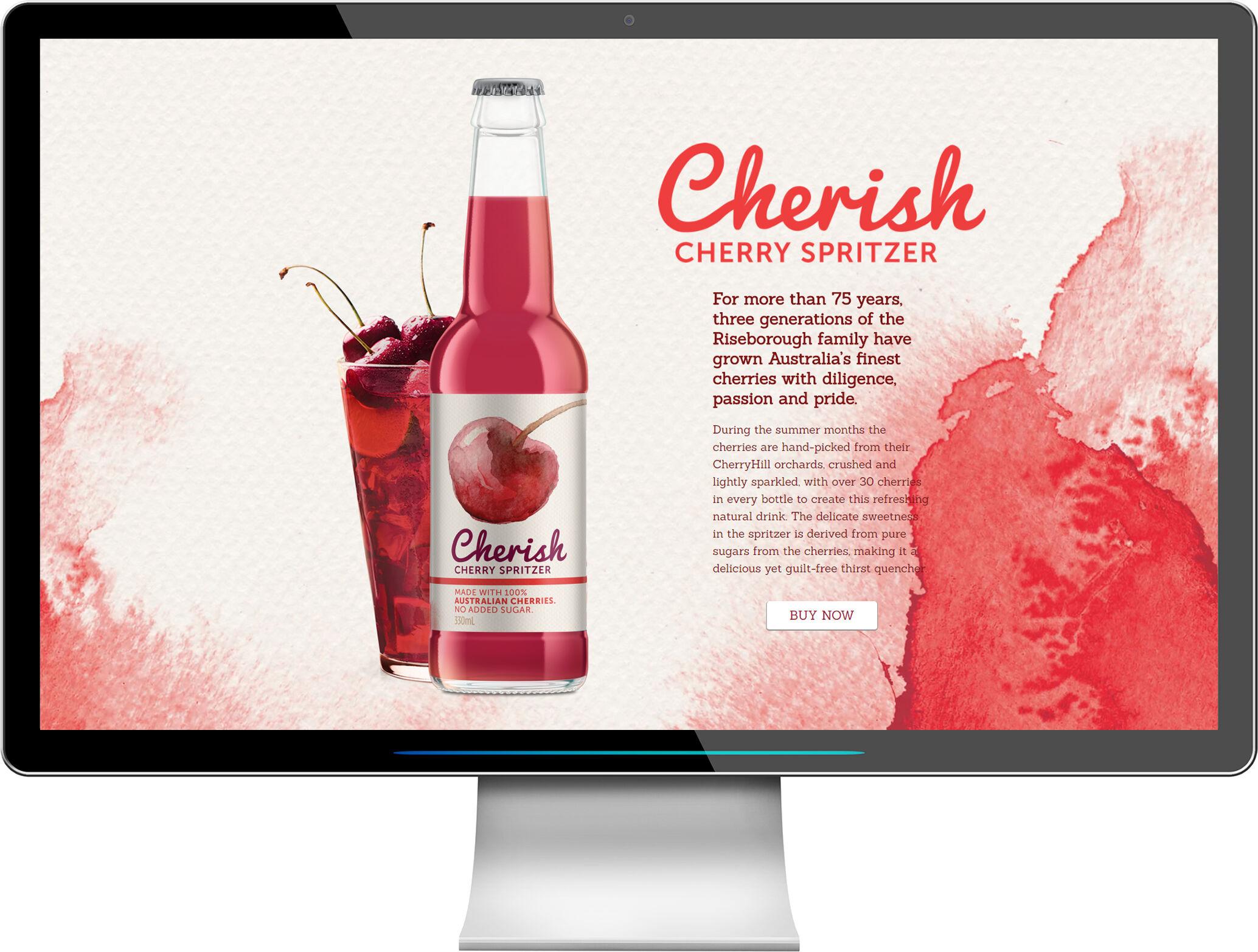 Cherish Spritzer, refreshing cherry drink for summer