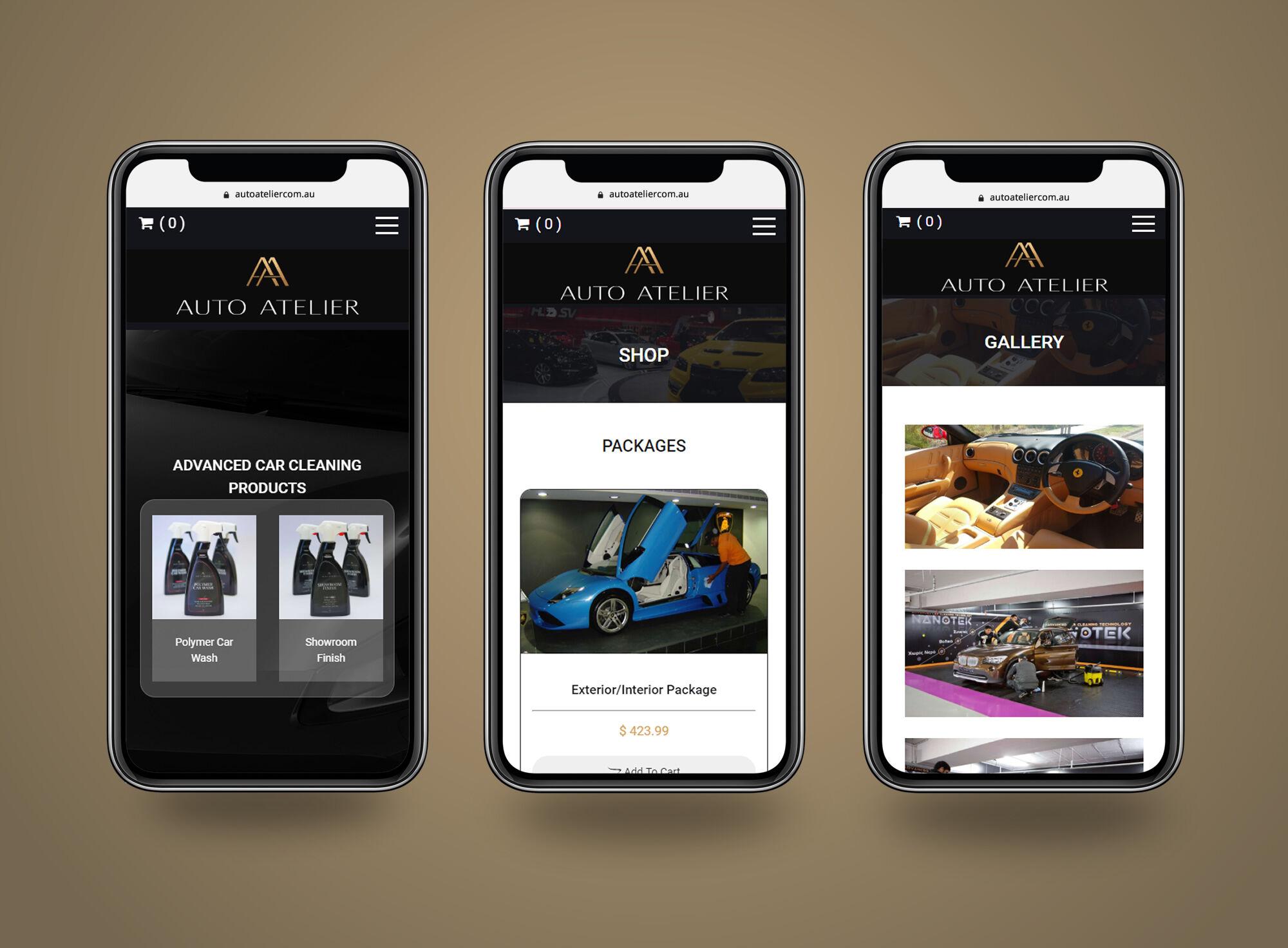 Auto Atelier mobile view
