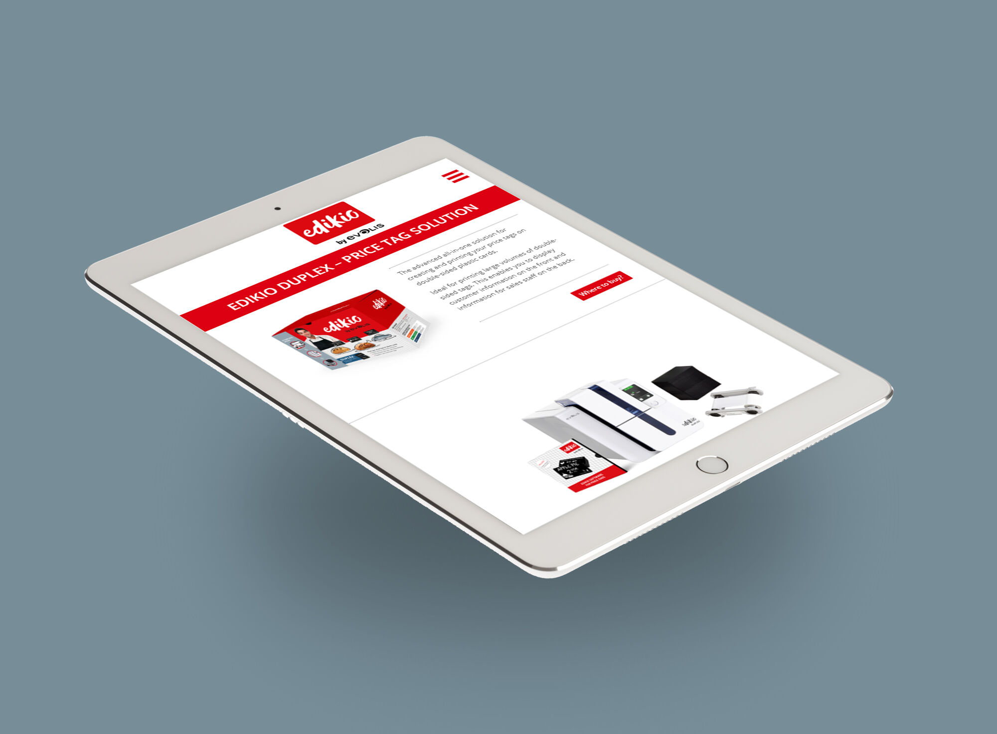 Edikio iPad view