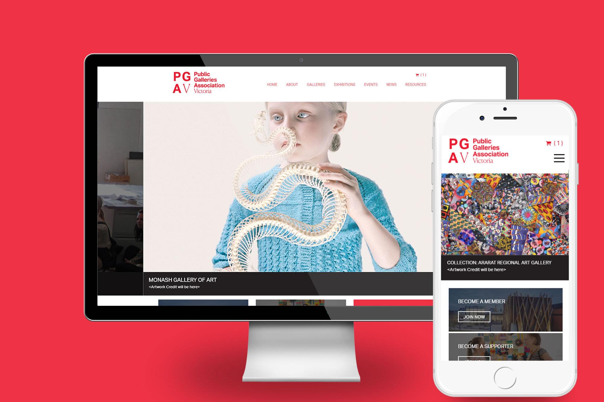 PGAV Desktop view