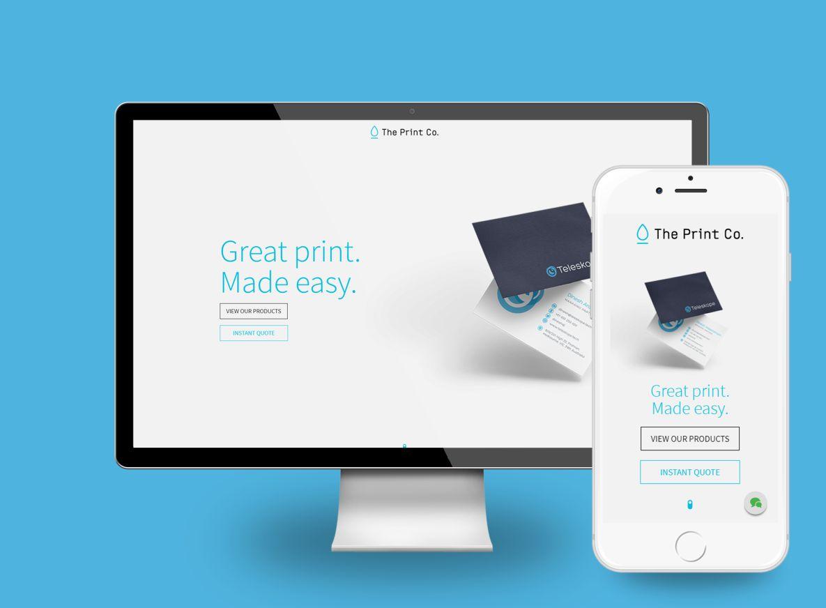 The Print Co Desktop view