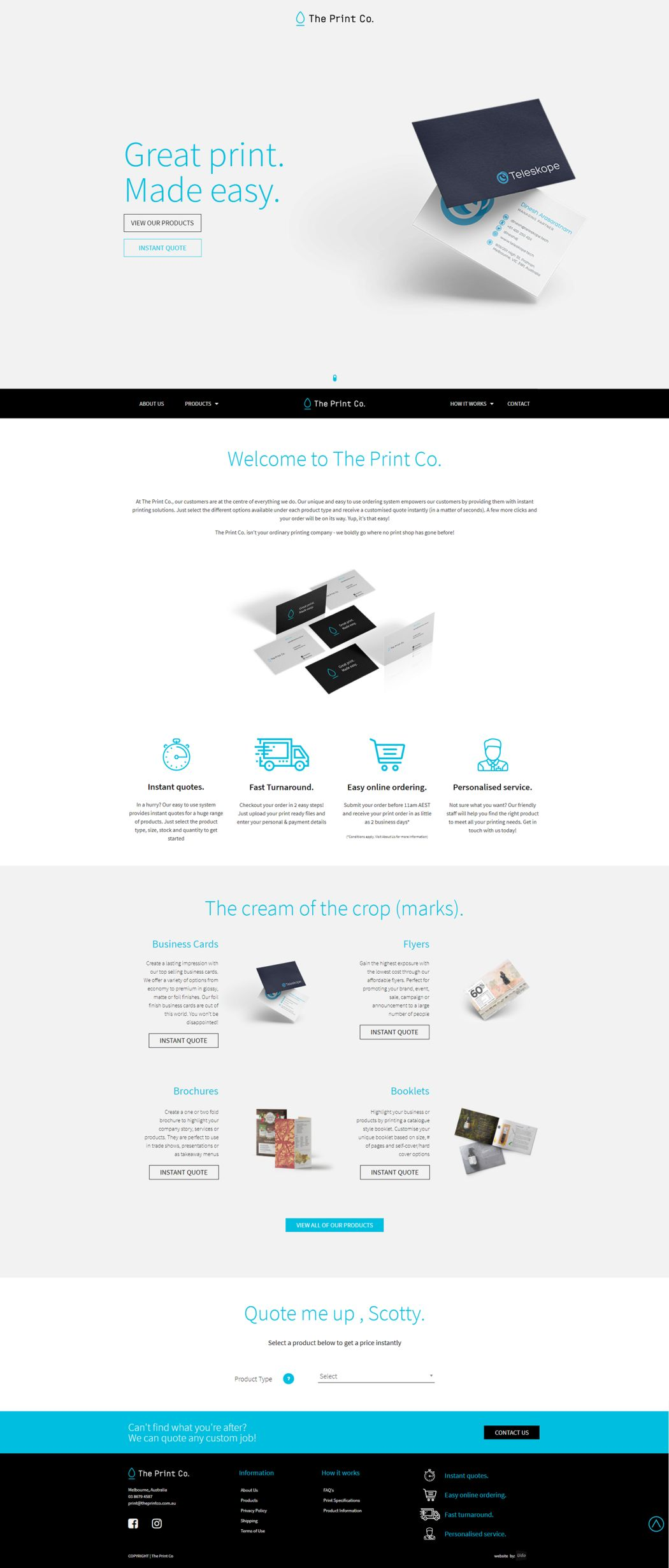 The Print Co Full home page