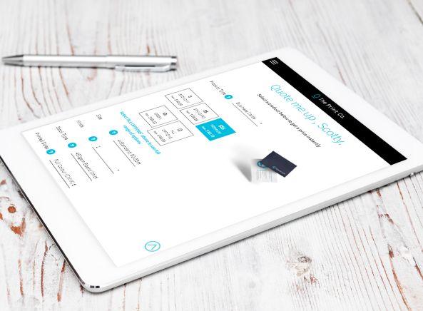The Print Co iPad view