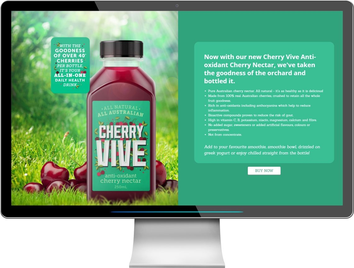 Cherry Vive - Cherry Nectar, Pure Australian cherry nectar. All natural - it's as healthy as it is delicious!