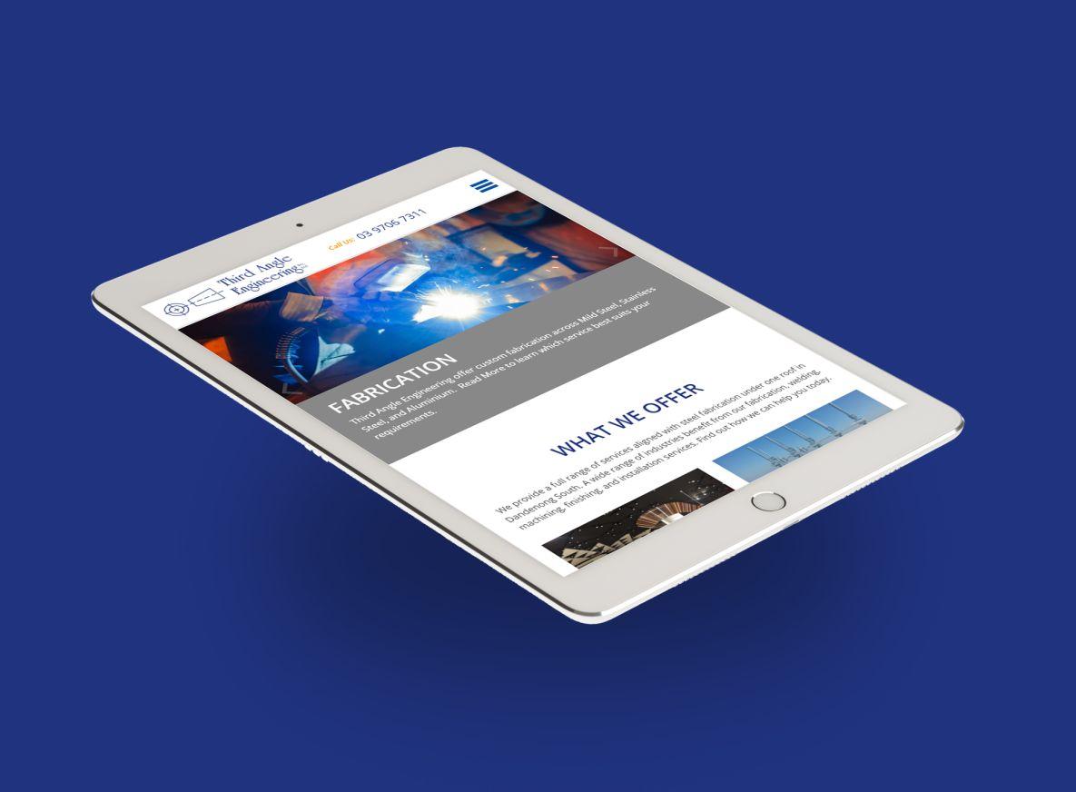 Third Angle Engineering iPad view