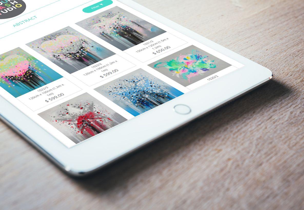 Colour Clash Studio iPad view