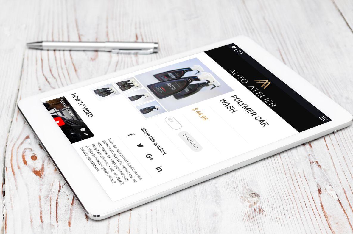Auto Atelier iPad view