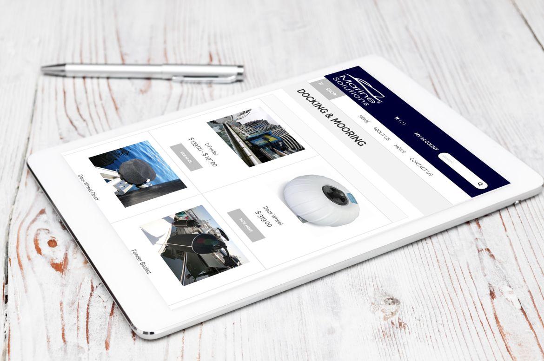 Marine Solutions iPad view