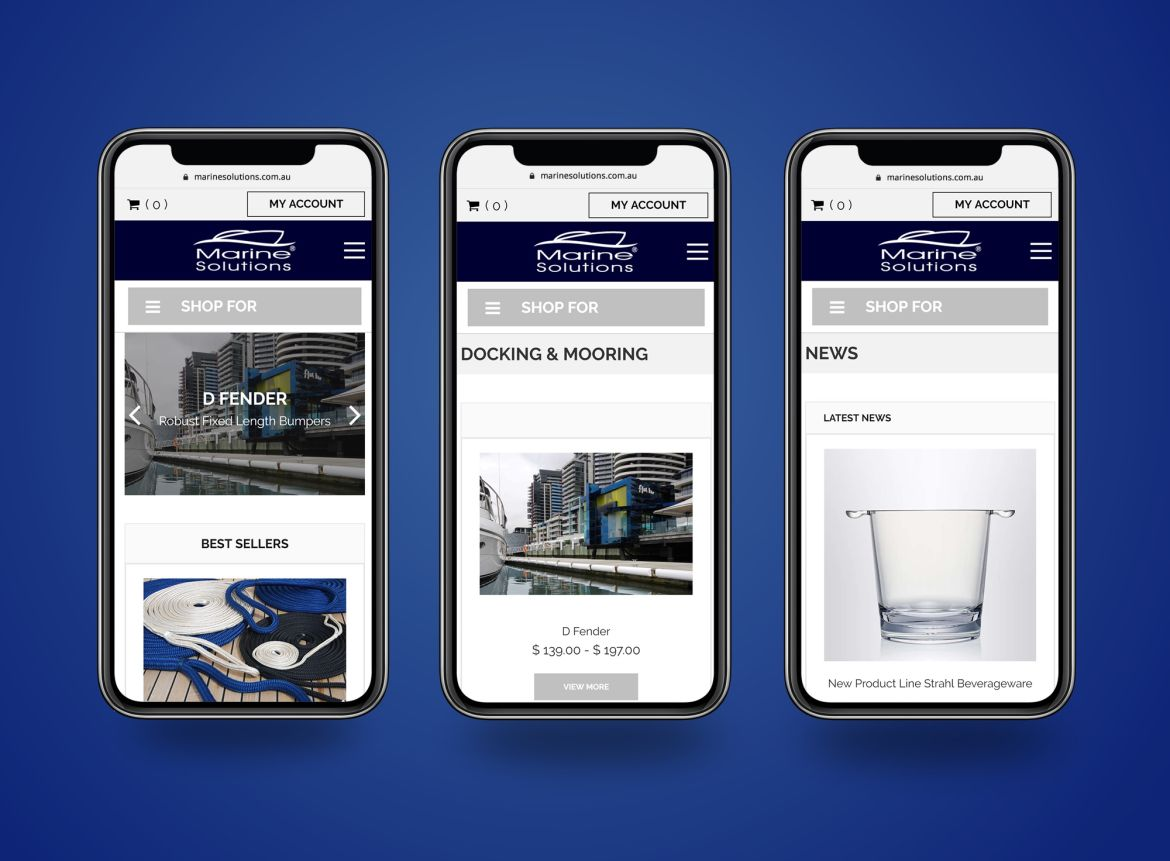 Marine Solutions mobile view