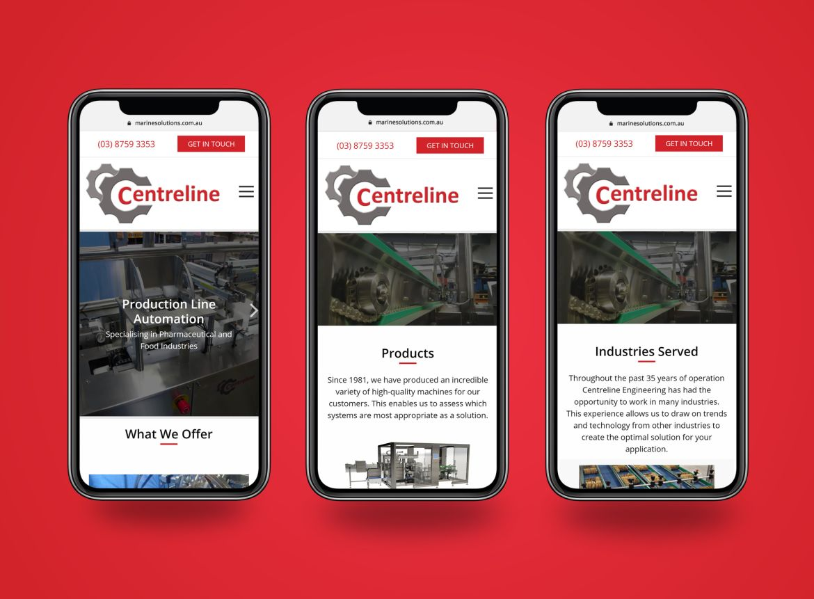 Centreline Engineering mobile view