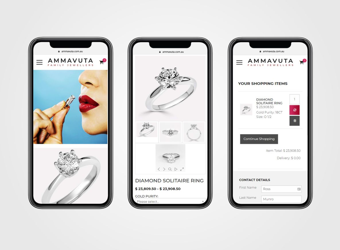 ammavuta UX mobile friendly