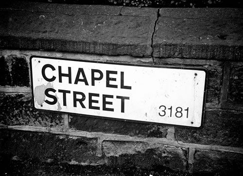 Chapel Street 3181 Victoria Street Sign