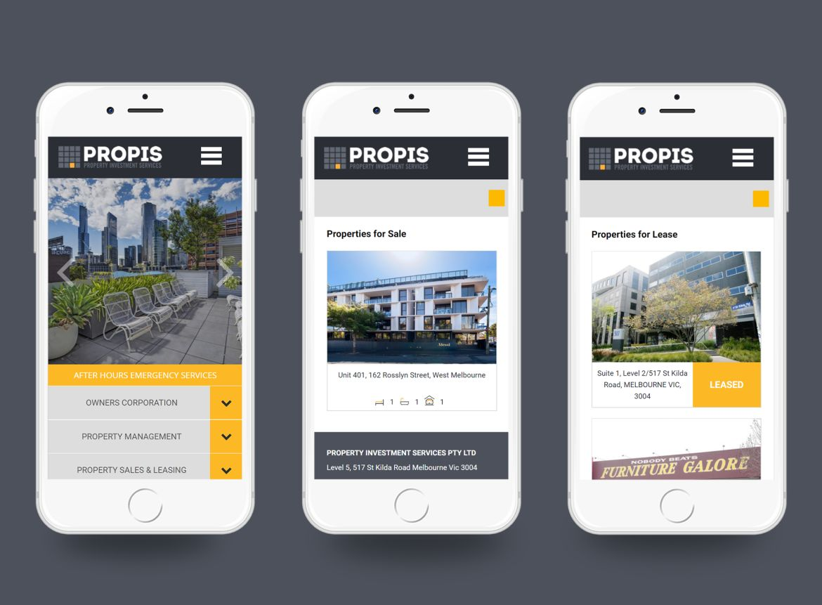 PROPIS Mobile Friendly Design