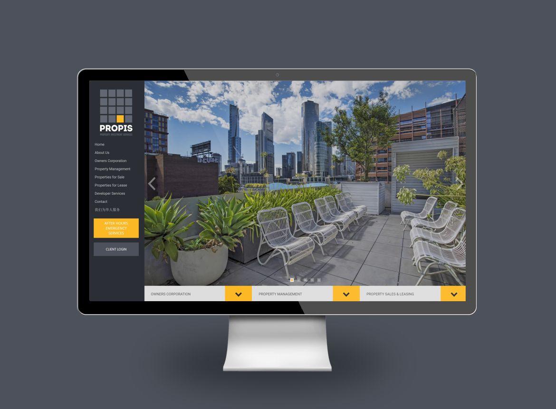 PROPIS website UI driven