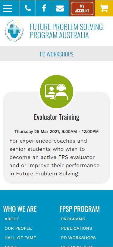 FPSP Mobile PD workshops